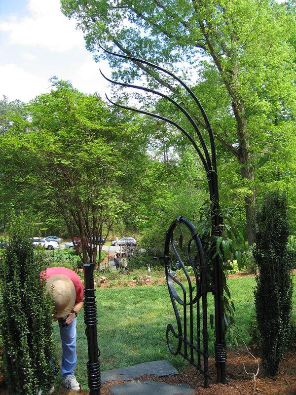 Rita Bigham's garden - gate into garden