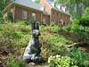 Rita Bigham's garden - rabbit statue