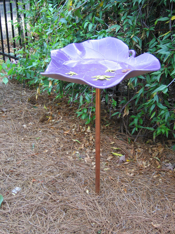 Rita Bigham's garden - bird bath