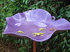 Rita Bigham's garden - birdbath with several 'frog's