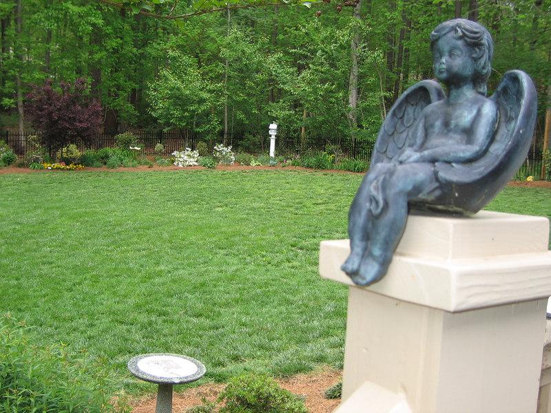 Rita Bigham's garden - angel statue