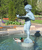 00aFavorite 04142005 Cherub fountain with swimming ducks