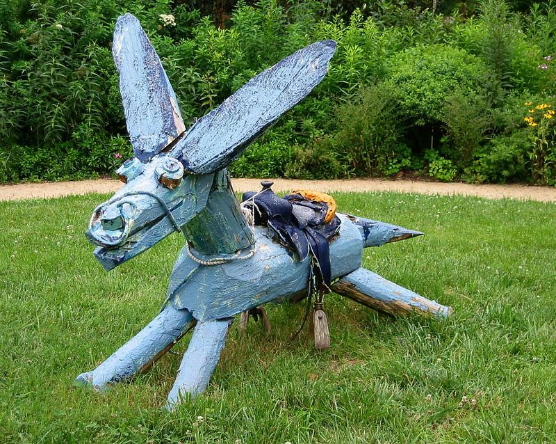 Sculpture of donkey