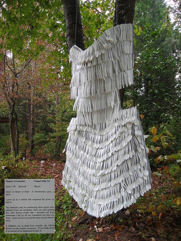 Sculpture - 'Spoonk' by Hunter Levinsohn, NC Botanical Garden [inset description]