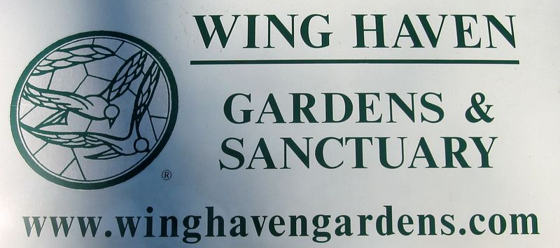 Wing Haven sign and website - side of their van