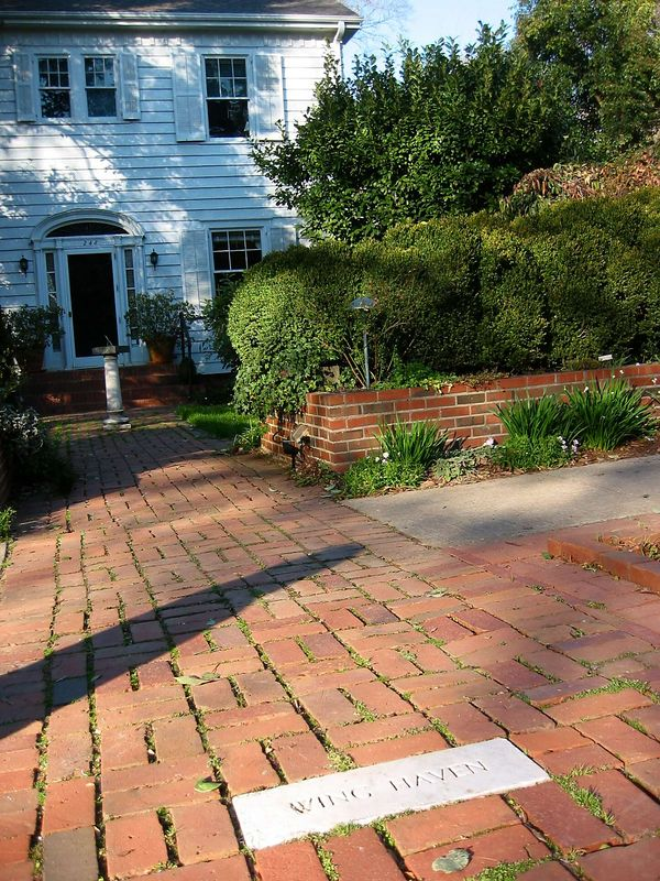 Walkway to house, 248 Ridgewood Ave, Charlotte