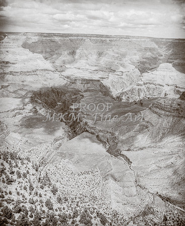 1008.639 Grand Canyon In  Black and White