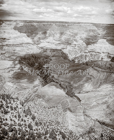 1008.643 Grand Canyon In  Black and White
