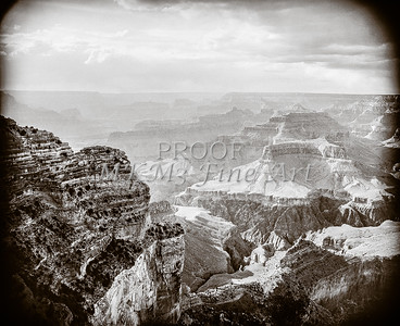 1008.628 Grand Canyon In  Black and White