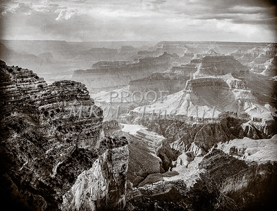 1008.645 Grand Canyon In  Black and White