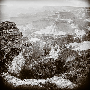 1008.627 Grand Canyon In  Black and White