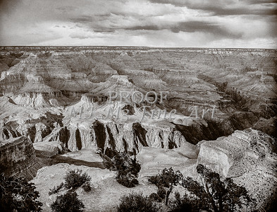 1008.646 Grand Canyon In  Black and White
