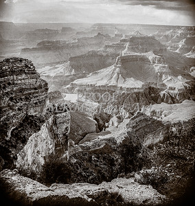 1008.644 Grand Canyon In  Black and White