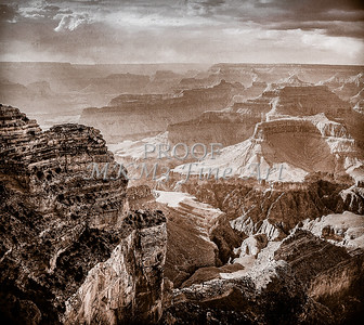 1008.245 Grand Canyon In Antique B&W