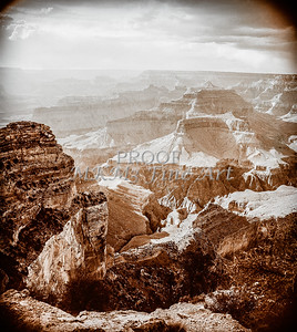 1008.227 Grand Canyon In Antique B&W