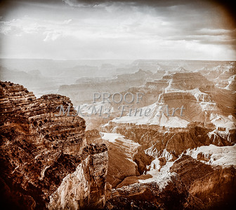 1008.228 Grand Canyon In Antique B&W