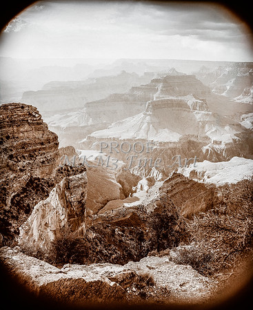 1008.236 Grand Canyon In Antique B&W