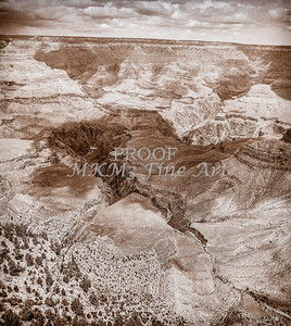 1008.243 Grand Canyon In Antique B&W