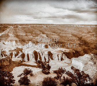 1008.229 Grand Canyon In Antique B&W