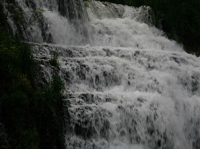 Day after rain storm, waterfall really flowing.