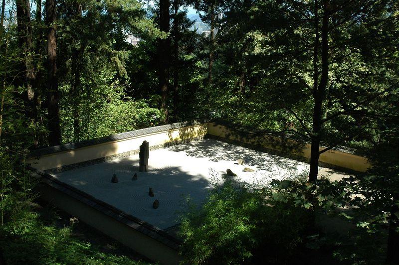 Portland, OR Japanese Garden zen garden