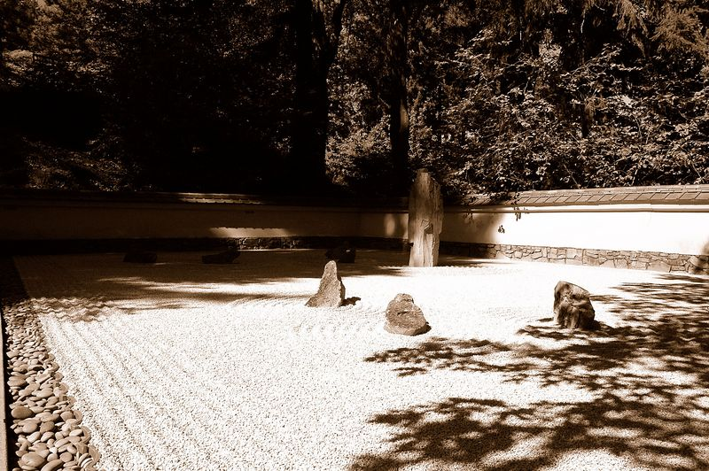 Portland, OR Japanese Garden, zen garden