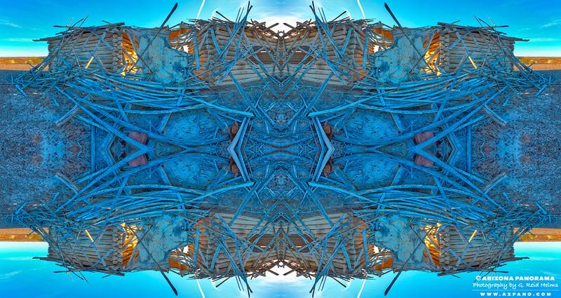 Blue Porch Kaleidoscope