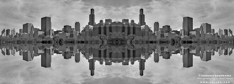 Chicago Skyline Kaleidoscope