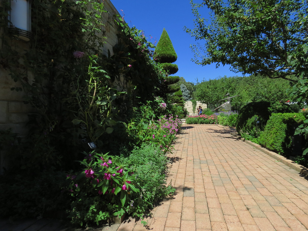 Brick walkway in the Garden.