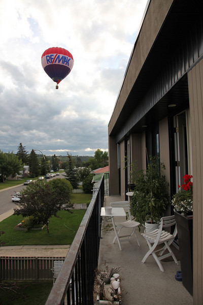 Balloons floating right past my french doors one morning while I was having my cuppa joe!