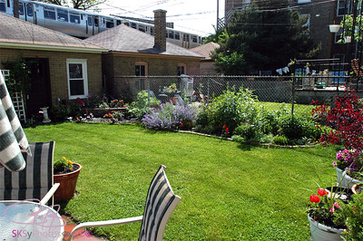 SW view of backyard, May 25, 2005