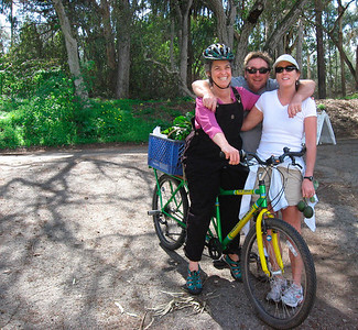 Lynn on her bike