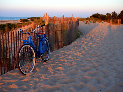 The Old Blue Bike At The End Of The Day