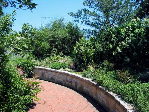 One of the paths through the perennial garden.