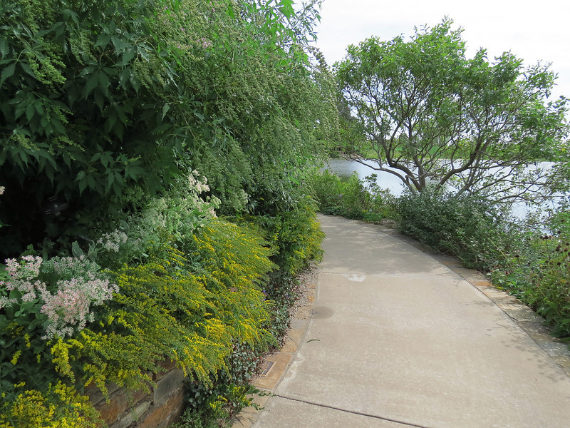 A walkway on the Island Water Garden.
