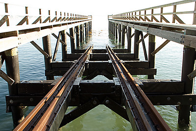 The pier at the Life boat Station.