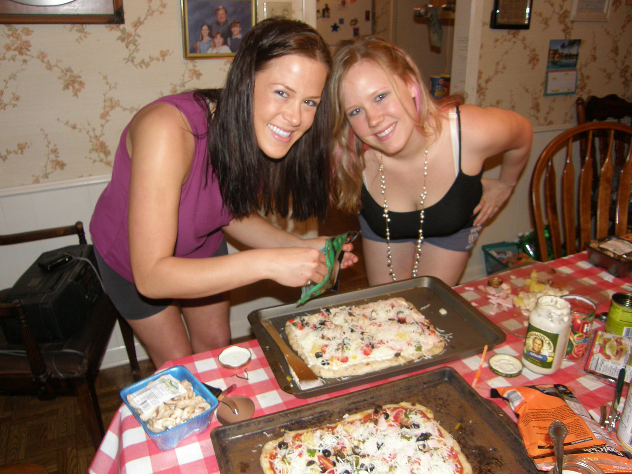 Hurry Sarah and Katie, I am hungry!   What sweeties!