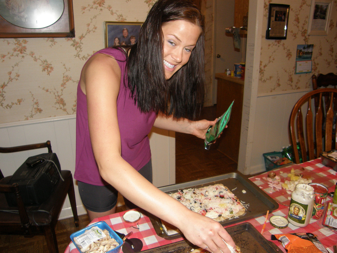 Sarah, putting on some cheese!