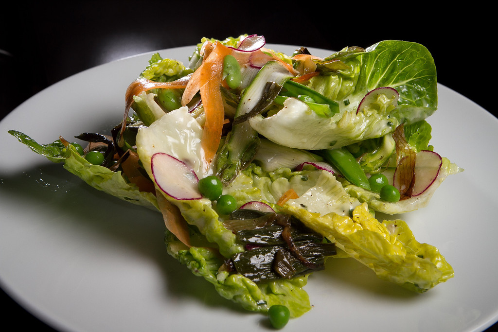 The Shaved Spring Vegetables at Redd Wood Restaurant in Yountville, Calif., is seen on April 6th, 2012.