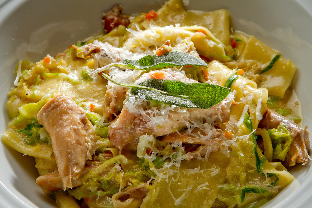 The Pappardelle with Rabbit at Redd Wood Restaurant in Yountville, Calif. is seen on April 6th, 2012.