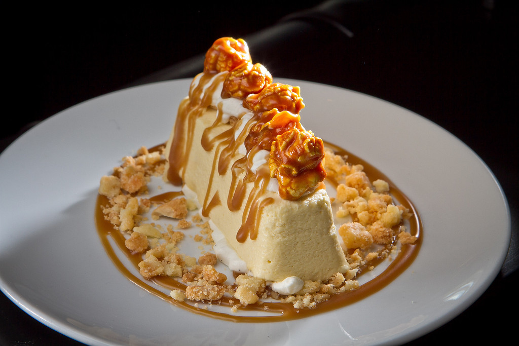 The Butterscotch Semifreddo at Redd Wood Restaurant in Yountville, Calif. is seen on April 6th, 2012.