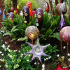 It was a special garden show at the botanical garden.  These garden decorations were for sale.  Hmmm, do they belong in a flower garden--the flowers are pretty well able to hold their own me thinks!