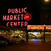 The entrance to Pike Place Market.