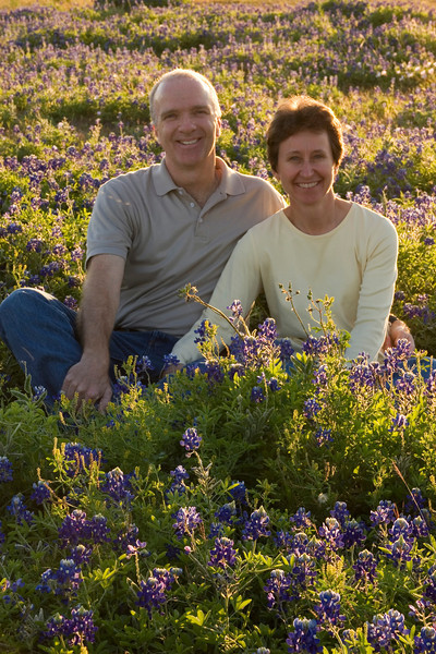 Myra & Rick in the Bluebonnets, League City, TX