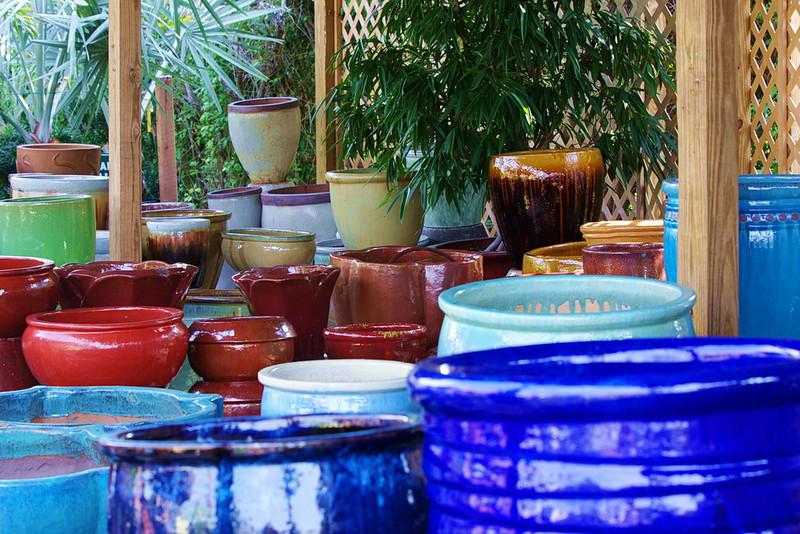 RCS5384 Colorful flower pot study.