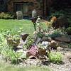 A rock garden greets us at the Schmaltz house