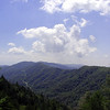 The view from Newfound Gap toward Cherokee was incredibly crisp and clear today.  You can see  the road winding on.