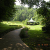 The lovely path to the gazebo on the grounds of The Lily Barn.<br /> Townsend, TN 6/16/09