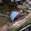 More pioneer junk in the stream at the base of Believer Falls.<br /> GSMNP TN 3/30/09