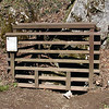Gated entrance to The Blow Hole Cave. In Summer or warm weather it is easy to feel the cool, wonderful breeze coming out of this cave. It is gated to protect the creatures who live here from humans and to prevent humans from getting hurt climbing into the cave.  Indiana brown bats live in here. <br /> White Oak Sinks<br /> GSMNP TN 3/09
